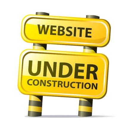 site en construction Vecteurs