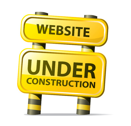 website traffic: website under construction Illustration