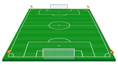 soccer pitch: fotball piitch Stock Photo