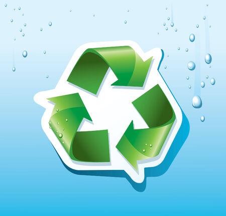logo recyclage: symbole de recyclage