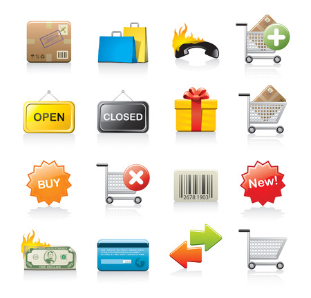 commercial icon set Stock Vector - 9142236