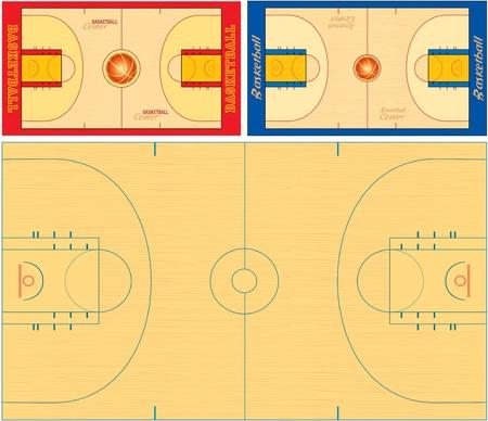 nba: basketball fields