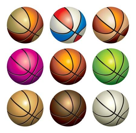 basketballs: basketballs set Illustration
