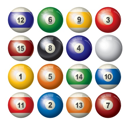 snooker: pool balls Illustration