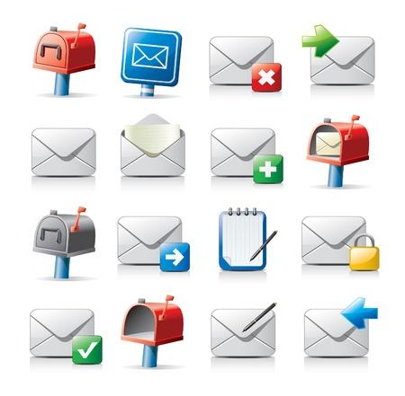 buzon de correos: iconos de mensajes Vectores