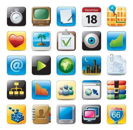 icone multimediale Vettoriali