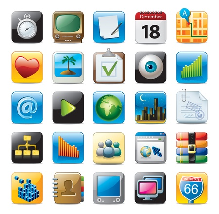 apps icon: multimedia icons Illustration