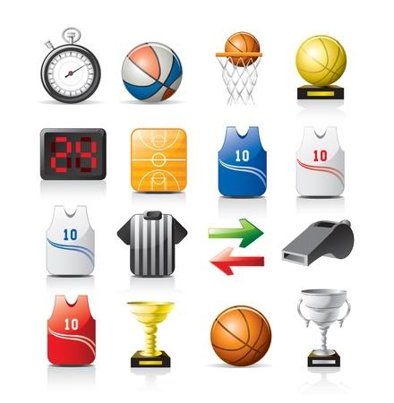 cronometro: iconos de baloncesto