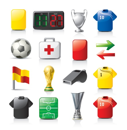 football icons Stock Vector - 9855263