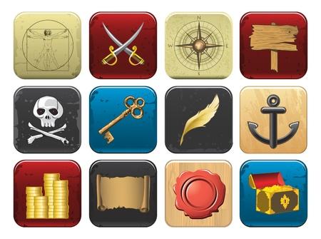uomo vitruviano: icone del pirata