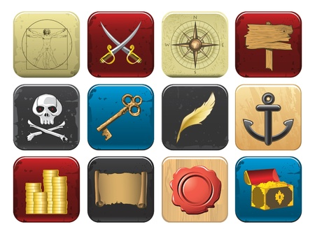 pirate icons Stock Vector - 9831601