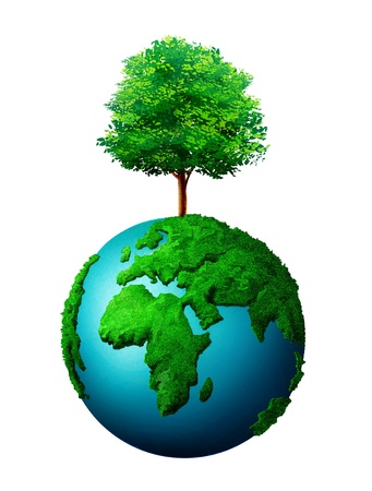 planet and tree Stock Photo - 9725028