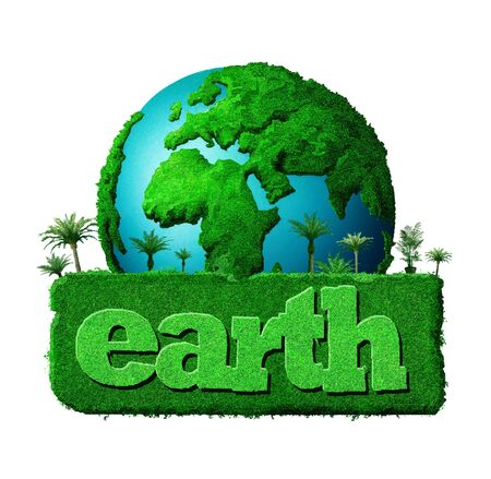 earth day: earth illustration