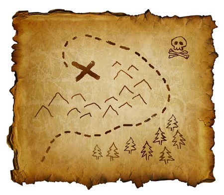 route map: treasure map Stock Photo