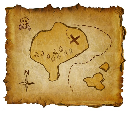 ancient map: pirate map
