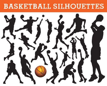 nba: basketball silhouettes