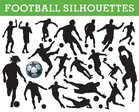 striker: football silhouettes Illustration
