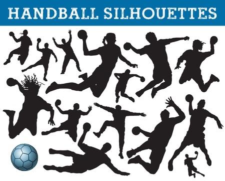 silhouettes de handball Vecteurs