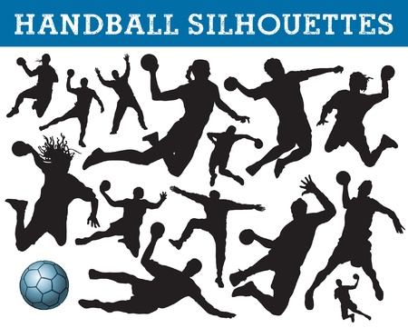 balonmano: siluetas de balonmano