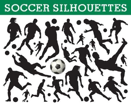 portero futbol: siluetas de f�tbol