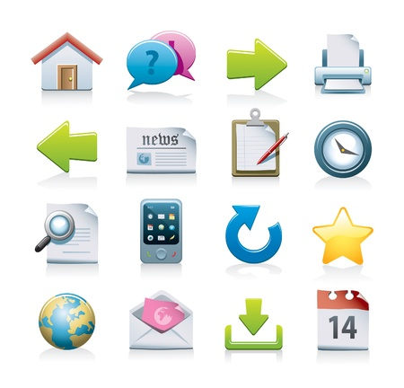 favoritos: conjunto de iconos de Web