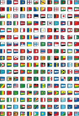banderas del mundo: banderas del mundo Vectores