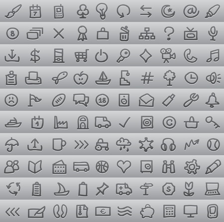 toolbar: semplici icone