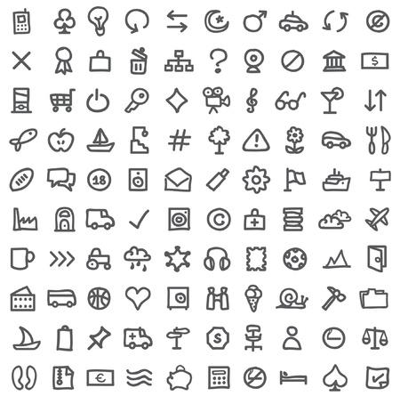 trekken: eenvoudige pictogrammen op wit