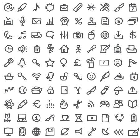 icone: semplici icone sul bianco Vettoriali