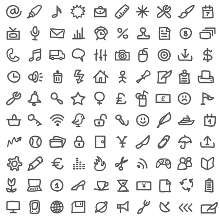 simple icons on white Stock Vector - 10260635