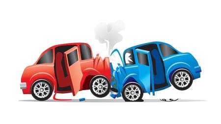auto-ongeluk Vector Illustratie