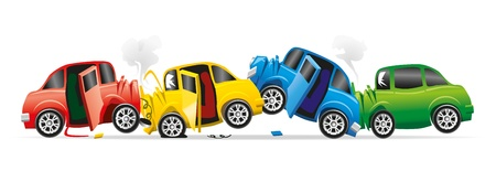 chain reaction: car accident