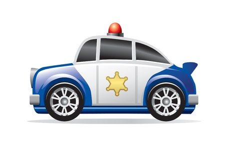 police cartoon: police car