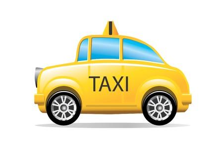 a yellow taxi: taxi cab