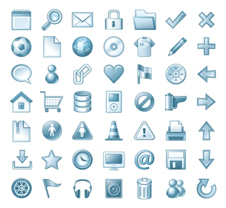 web icons communication: web icons