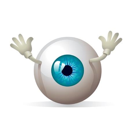globo ocular: ojo con las manos  Vectores
