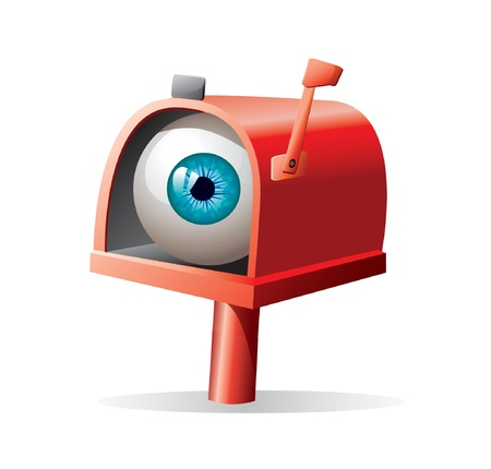 eye ball: mailbox llustration