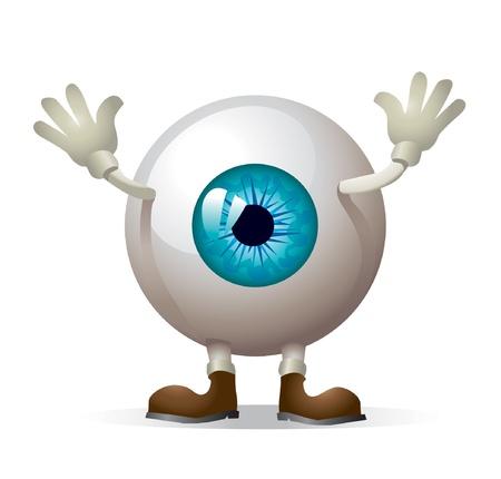 globo ocular: Ilustración de ojo