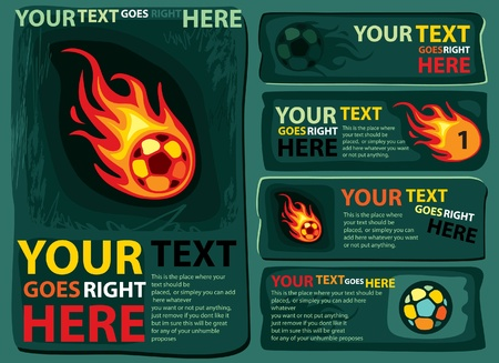 fireballs: football design template
