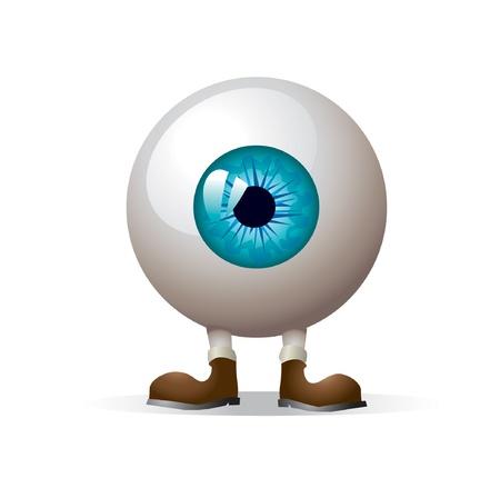 ojos caricatura: ojo con las piernas