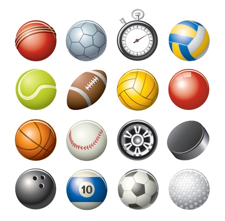 pool balls: sport icons Illustration