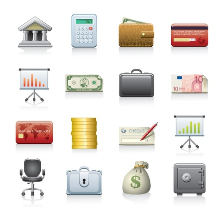 banking icons Stock Vector - 10529968