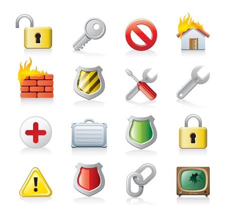 cadena rota: iconos securrity