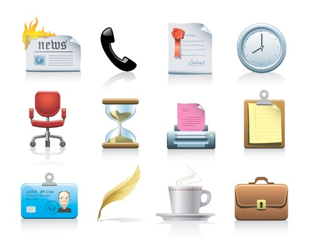 office icons Stock Vector - 10529963