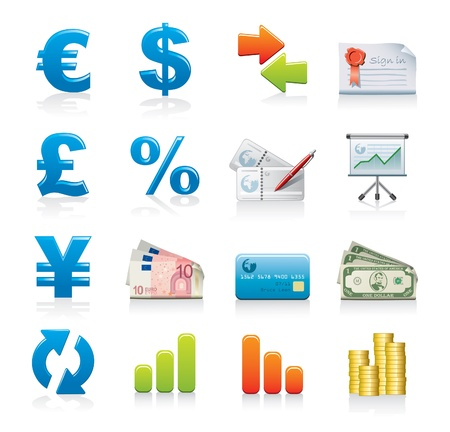 currency symbols: finance icon set