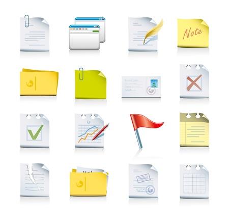 contratos: conjunto de iconos de archivos y carpetas Vectores