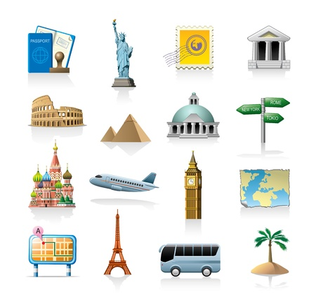 travel icon set Stock Vector - 10601442