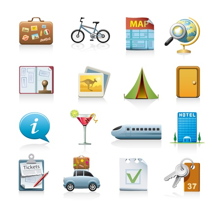 travel icon set Stock Vector - 10601441
