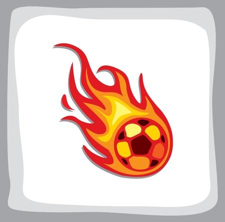 palla di fuoco: calcio palla di fuoco Vettoriali