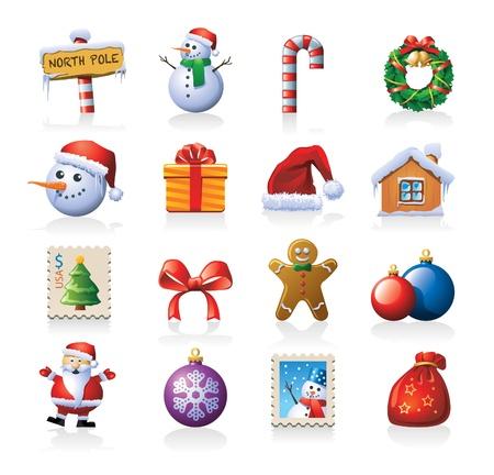 kerstmuts: Kerst pictogrammen